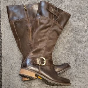 TIMBERLAND Brown Suede/Leather Boots Size 6.5